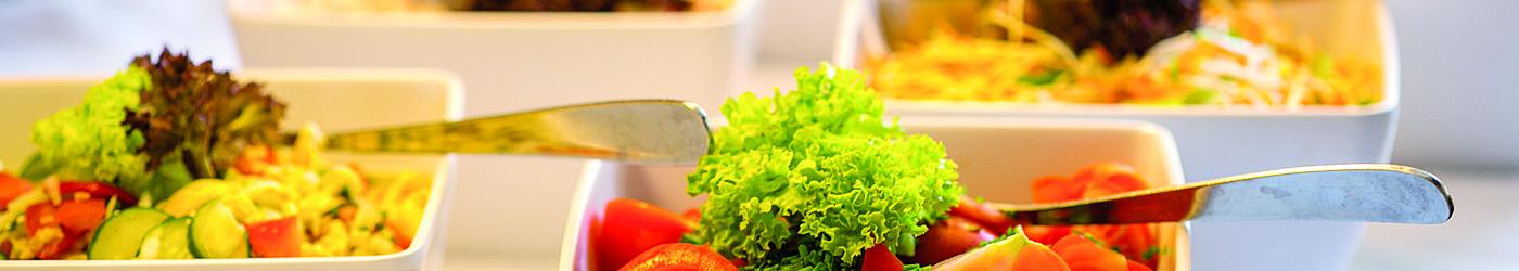Ausschnitt eines Salatbuffets