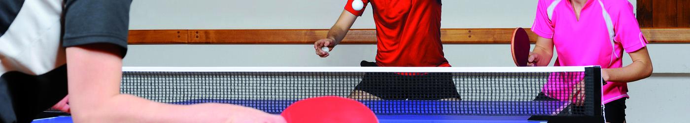 Bildausschnitt eines Tischtennismatches