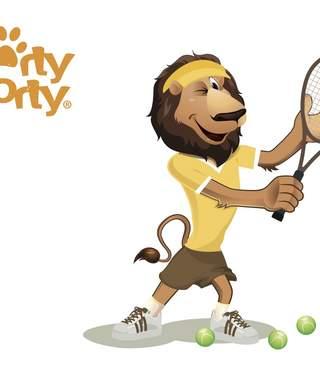 Unser Maskottchen Sporty Shorty der Löwe