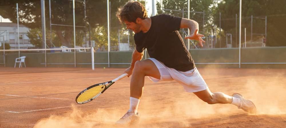 Standplatz Tennisaction