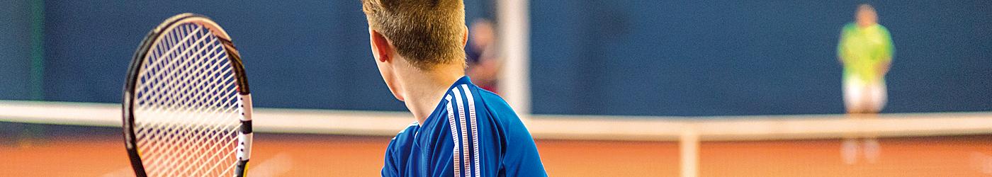 Bildausschnit von einem Tennisspiel