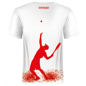 T-Shirt mit Tennisspieler