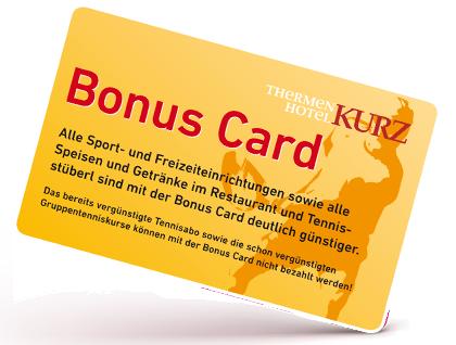 Die BonusCard des Thermenhotel Kurz