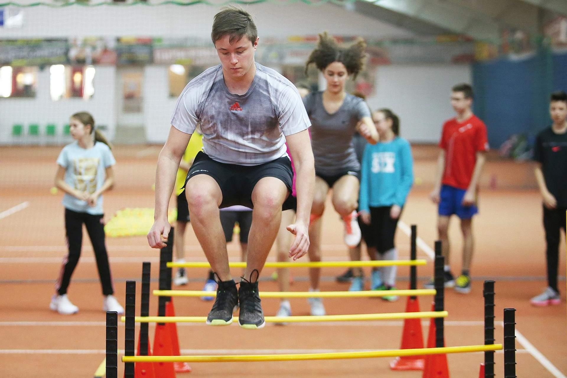 Training Hürdensprung