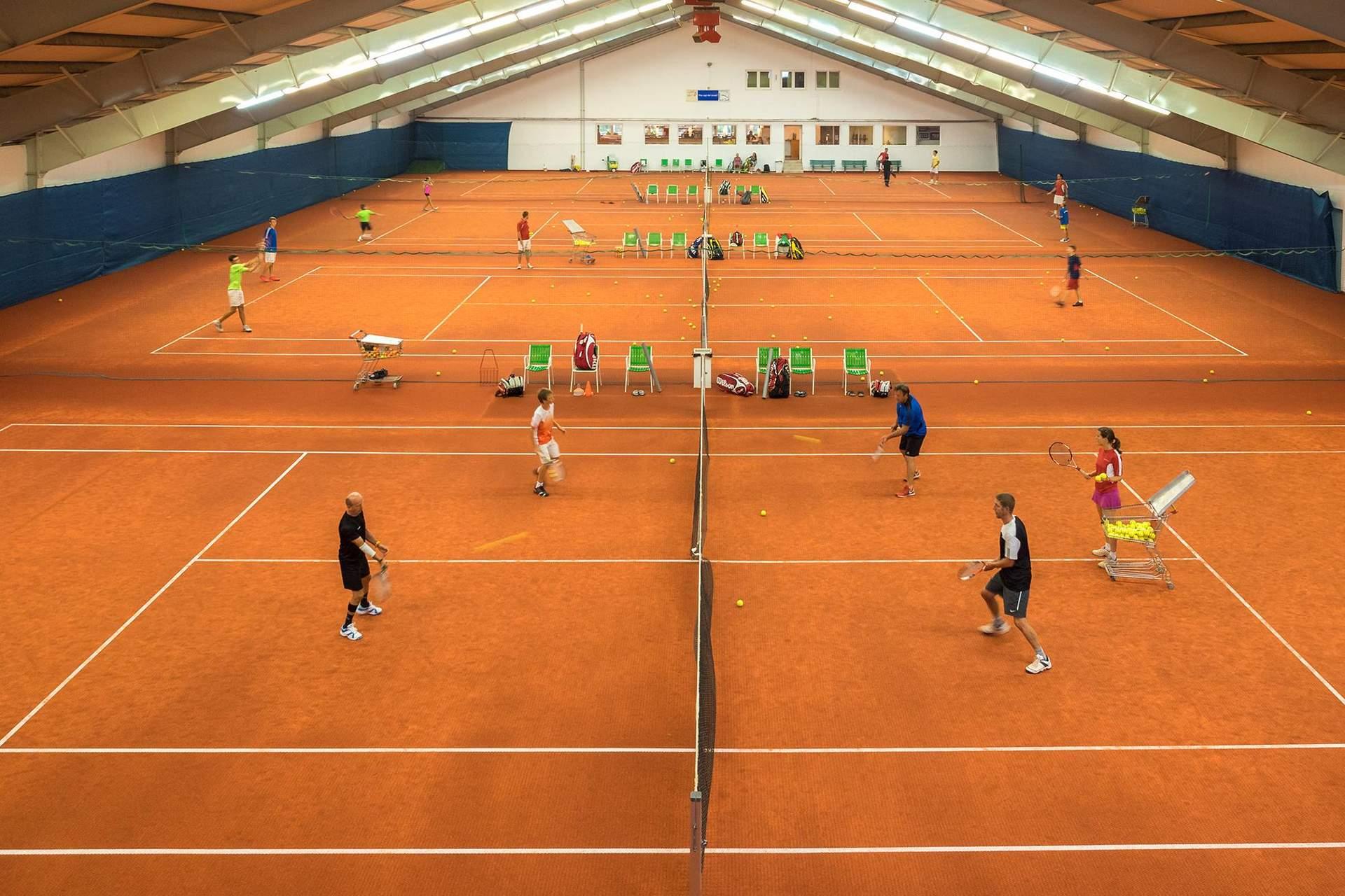 Winter Tennissaison in der Halle