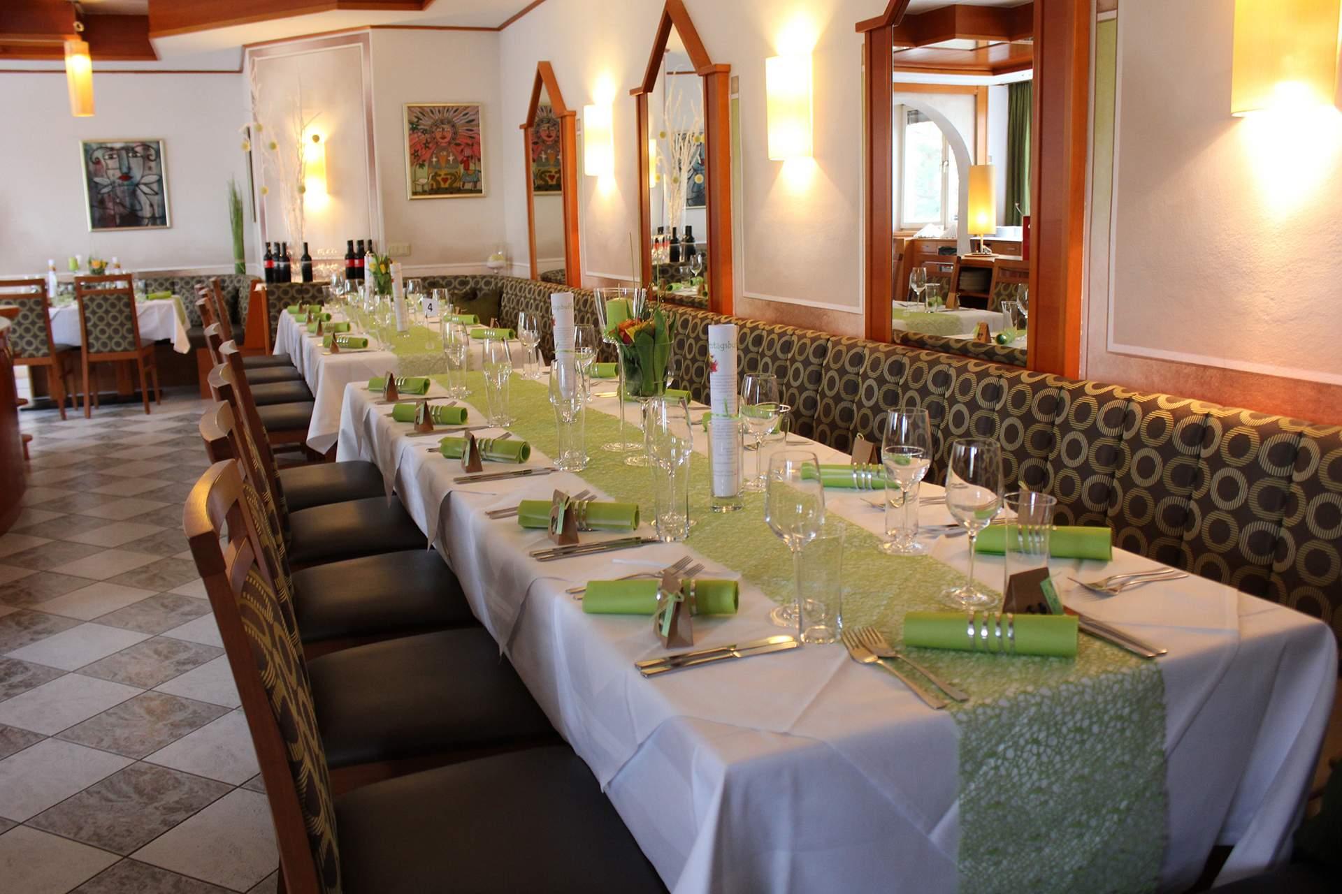 Romantische Atmosphäre im Speisesaal