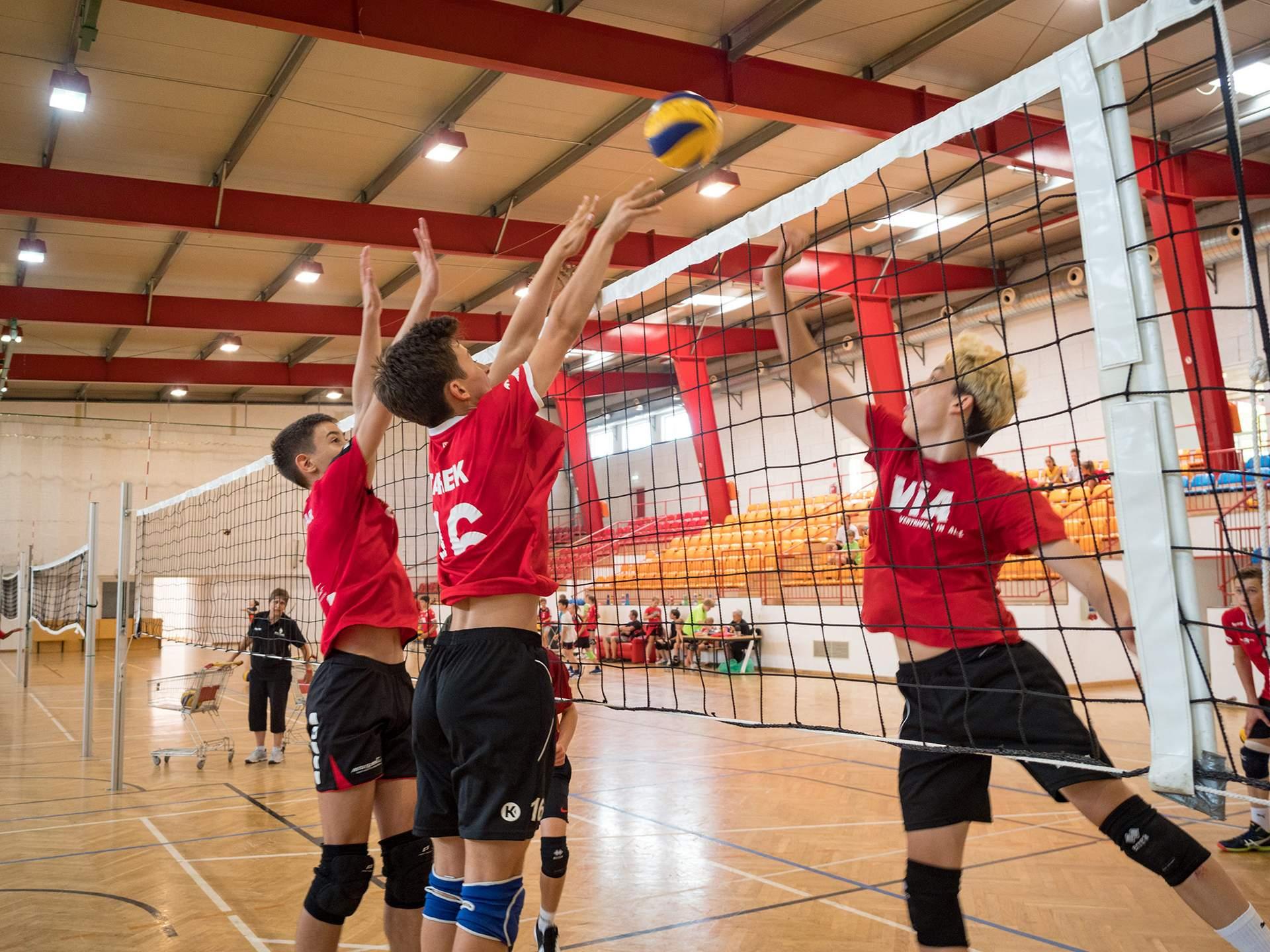 Volleyball Action im Sporthotel Kurz