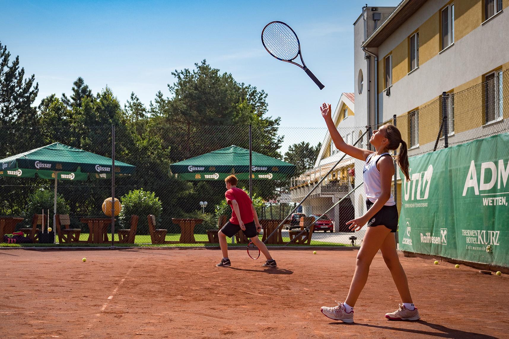 Jugend Tennistraining im Freien