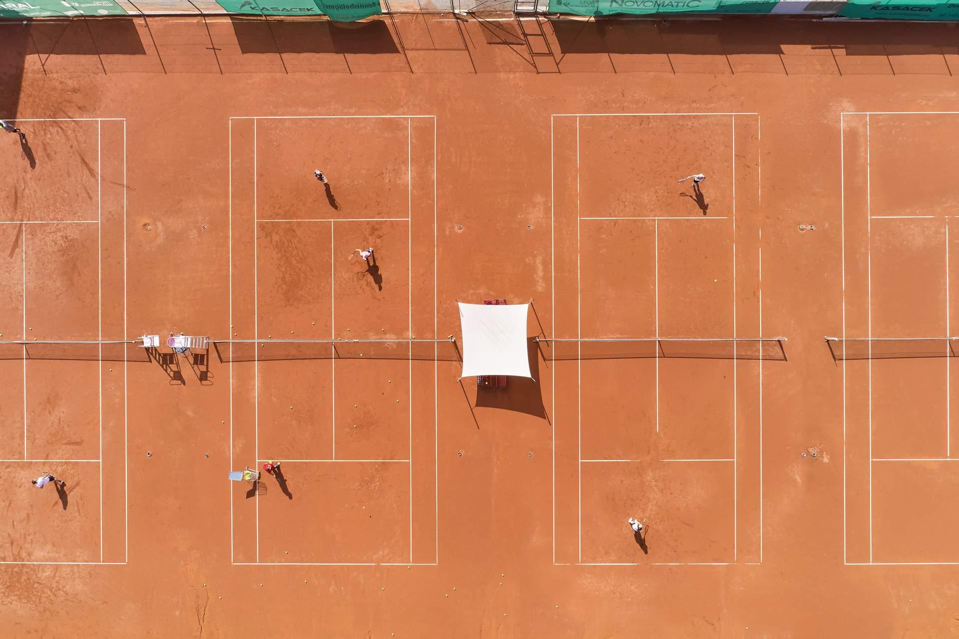 Outdoor Tennisplätze