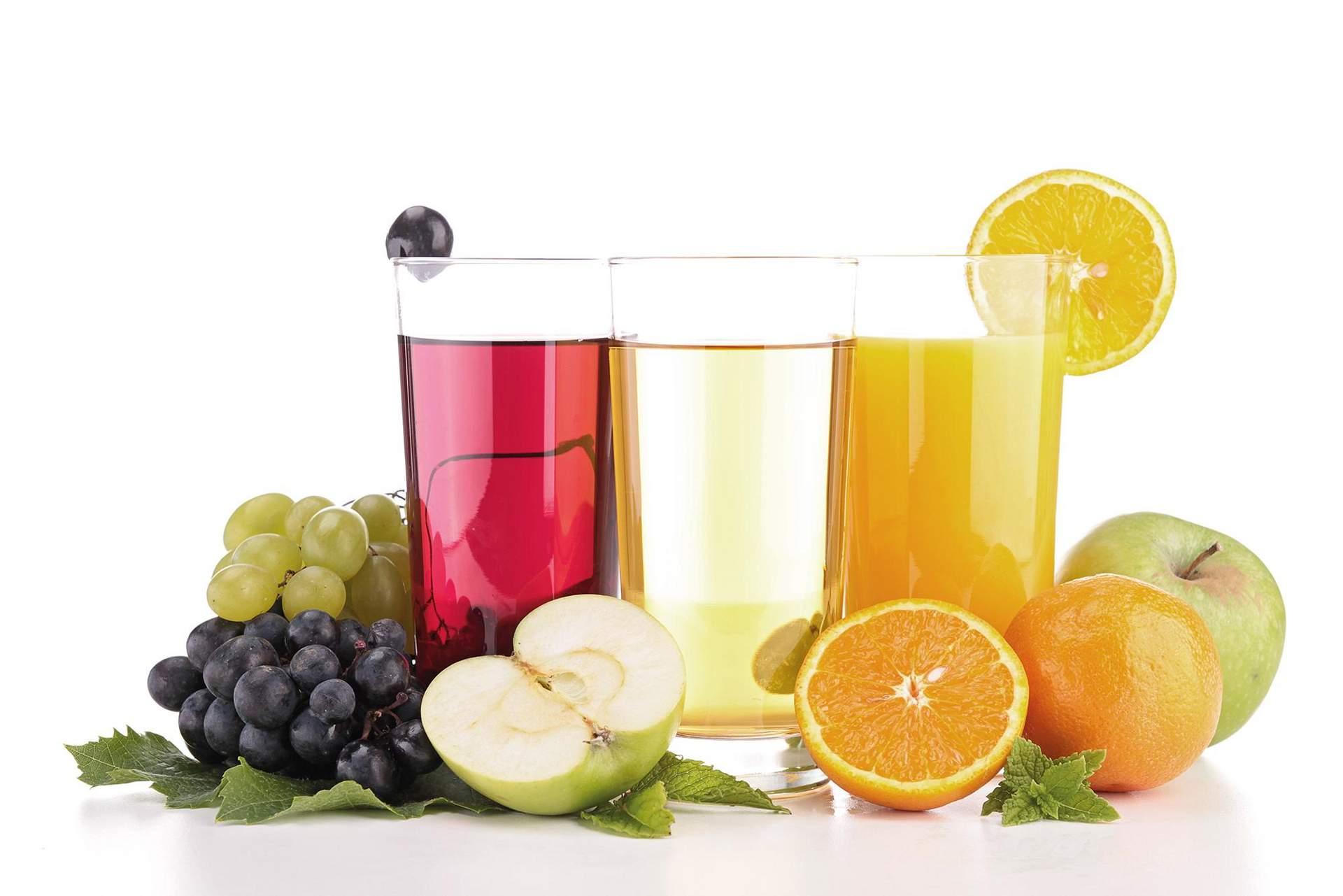 Frische Fruchtsäfte