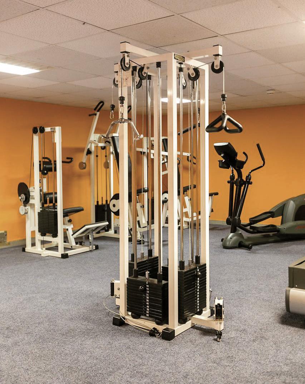 Muskeln aufbauen im Fitnessstudio