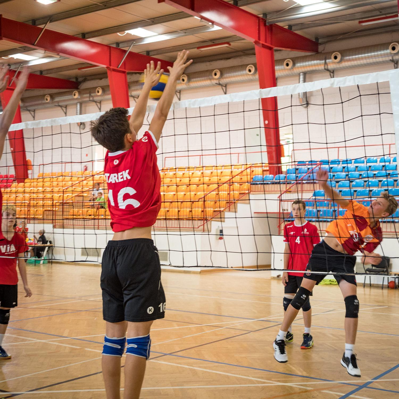 Volleyball auf 4 Hallenplätze